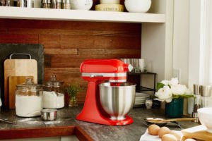 robot multifonction rouge kitchenaid
